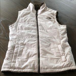 White The North Face Reversible Vest Excellent Sm